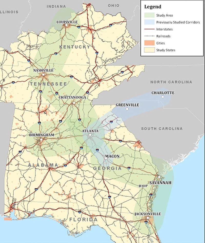 Georgia HSR map